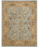 RugStudio presents Rugstudio Sample Sale 46774R Blue / Gold Hand-Tufted, Better Quality Area Rug