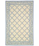 RugStudio presents Safavieh Chelsea HK230A Ivory / Light Blue Hand-Hooked Area Rug