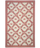 RugStudio presents Rugstudio Sample Sale 46443R Ivory / Rose Hand-Hooked Area Rug