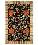 RugStudio presents Safavieh Jardin JAR211B Black Hand-Tufted, Better Quality Area Rug