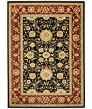 RugStudio presents Safavieh Lyndhurst LNH212G Black / Red Machine Woven, Good Quality Area Rug