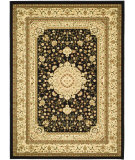 RugStudio presents Safavieh Lyndhurst LNH213A Black / Creme Machine Woven, Good Quality Area Rug