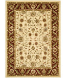 RugStudio presents Safavieh Lyndhurst LNH215A Creme / Red Machine Woven, Good Quality Area Rug