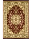 RugStudio presents Safavieh Lyndhurst LNH222B Red / Ivory Machine Woven, Good Quality Area Rug