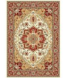 RugStudio presents Safavieh Lyndhurst LNH330A Ivory / Red Machine Woven, Better Quality Area Rug