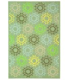 RugStudio presents Martha Stewart Block Quilt MSR1843H OPAL / GREY Hand-Hooked Area Rug
