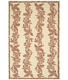 RugStudio presents Martha Stewart Fern Row MSR2321B RED / DAHLIA Hand-Hooked Area Rug