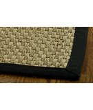 RugStudio presents Safavieh Natural Fiber NF114C Natural / Black Sisal/Seagrass/Jute Area Rug