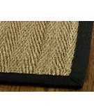 RugStudio presents Safavieh Natural Fiber NF115C Natural / Black Sisal/Seagrass/Jute Area Rug