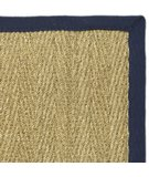 RugStudio presents Safavieh Natural Fiber NF115E Natural / Blue Sisal/Seagrass/Jute Area Rug