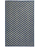 RugStudio presents Rugstudio Sample Sale 46933R Indigo / Ivory Hand-Hooked Area Rug