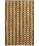 RugStudio presents Rugstudio Sample Sale 46934R Chocolate / Ivory Hand-Hooked Area Rug