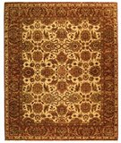 RugStudio presents Rugstudio Sample Sale 46944R Ivory / Rust Hand-Knotted, Best Quality Area Rug