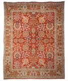 RugStudio presents Rugstudio Sample Sale 46945R Red / Gold Hand-Knotted, Best Quality Area Rug