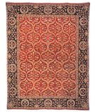 RugStudio presents Safavieh Old World OW119A Red / Navy Hand-Knotted, Best Quality Area Rug