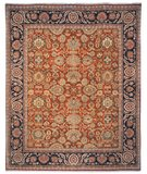 RugStudio presents Safavieh Old World OW120A Salmon / Navy Hand-Knotted, Best Quality Area Rug