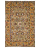 RugStudio presents Safavieh Old World OW121A Light Green / Gold Hand-Knotted, Best Quality Area Rug