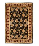RugStudio presents Safavieh Persian Court PC131B Black / Red Hand-Tufted, Best Quality Area Rug