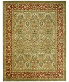 RugStudio presents Safavieh Persian Legend PL819B Light Green / Rust Hand-Tufted, Best Quality Area Rug