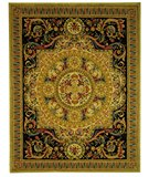 RugStudio presents Safavieh Savonnerie SAV205A Beige / Black Hand-Tufted, Good Quality Area Rug