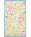 RugStudio presents Safavieh Kids SFK362A Ivory / Blue Hand-Hooked Area Rug