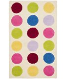 RugStudio presents Safavieh Kids SFK386A Ivory / Multi Hand-Hooked Area Rug