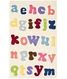 RugStudio presents Safavieh Kids SFK389A Ivory / Multi Hand-Hooked Area Rug