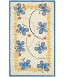 RugStudio presents Safavieh Kids SFK390A Ivory / Blue Hand-Hooked Area Rug