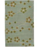 RugStudio presents Safavieh Soho Soh327a Light Blue / Gold Hand-Tufted, Better Quality Area Rug