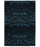 RugStudio presents Rugstudio Sample Sale 47138R Blue / Brown Hand-Tufted, Best Quality Area Rug