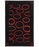 RugStudio presents Safavieh Soho Soh714b Black / Red Hand-Tufted, Better Quality Area Rug