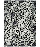 RugStudio presents Rugstudio Sample Sale 47204R Grey / Ivory Hand-Tufted, Better Quality Area Rug