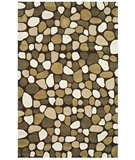 RugStudio presents Safavieh Soho Soh814a Dark Brown / Multi Hand-Tufted, Better Quality Area Rug