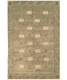 RugStudio presents Safavieh Tibetan TB101D Green / Gold Hand-Knotted, Better Quality Area Rug