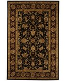 RugStudio presents Safavieh Traditions TD602C Black / Burgundy Hand-Tufted, Good Quality Area Rug