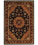 RugStudio presents Safavieh Traditions TD610B Black / Burgundy Hand-Tufted, Best Quality Area Rug