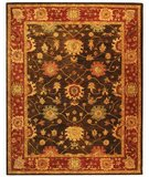 RugStudio presents Safavieh Taj Mahal TJM108A Olive / Burgundy Hand-Tufted, Good Quality Area Rug