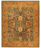 RugStudio presents Safavieh Taj Mahal TJM109A Blue / Tan Hand-Tufted, Best Quality Area Rug