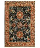 RugStudio presents Safavieh Turkistan TRK107C Blue / Rust Hand-Knotted, Good Quality Area Rug