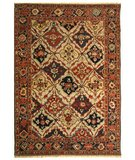 RugStudio presents Safavieh Turkistan TRK114B Ivory / Navy Hand-Knotted, Good Quality Area Rug