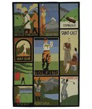 RugStudio presents Safavieh Vintage Posters VP252A Assorted Hand-Hooked Area Rug