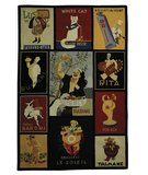 RugStudio presents Safavieh Vintage Posters VP253A Assorted Hand-Hooked Area Rug