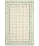RugStudio presents Rugstudio Sample Sale 47464R Beige / Light Blue Hand-Hooked Area Rug