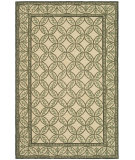RugStudio presents Rugstudio Sample Sale 47466R Taupe / Green Hand-Hooked Area Rug