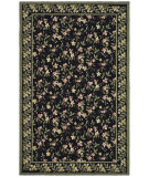 RugStudio presents Safavieh Wilton WIL331B Black / Green Hand-Hooked Area Rug