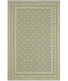 RugStudio presents Safavieh Wilton WIL334B Green / Ivory Hand-Hooked Area Rug