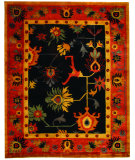 RugStudio presents Safavieh Ancient Weave ACW1001A Black / Red Area Rug