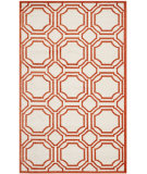 RugStudio presents Safavieh Amherst Amt411f Ivory / Orange Machine Woven, Good Quality Area Rug