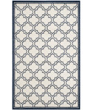 RugStudio presents Safavieh Amherst Amt412m Ivory / Navy Machine Woven, Good Quality Area Rug