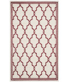 RugStudio presents Safavieh Amherst Amt414h Ivory / Red Machine Woven, Good Quality Area Rug